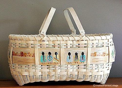 Gratiot Lake Basket Weaving Supplies : A tisket tasket i wove baskets the red painted cottage