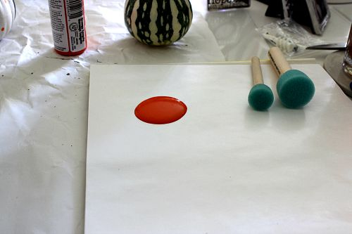 paints and dabber for pumpkins