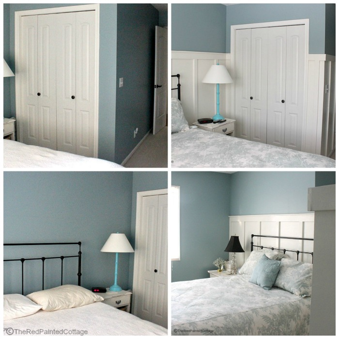 Before and After of our Master bedroom with board and batten