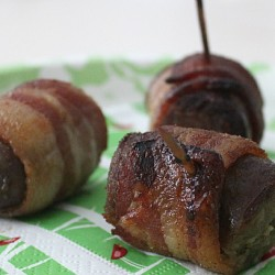 Bacon Wrapped Bratwurst