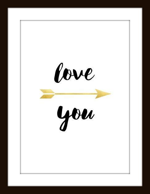 Valentines love you gold1