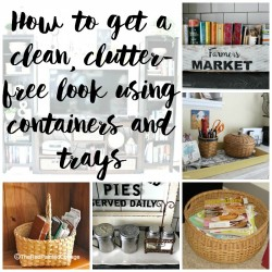Containerize For A Clutter-Free Look