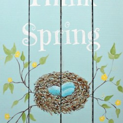 "Free ""Think Spring"" Printable"