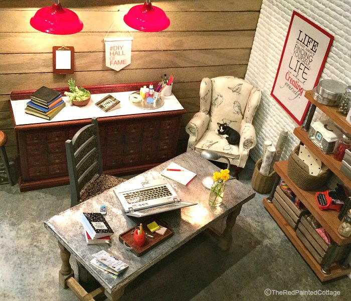 Miniature room created by Crates and Pallets for Haven conference