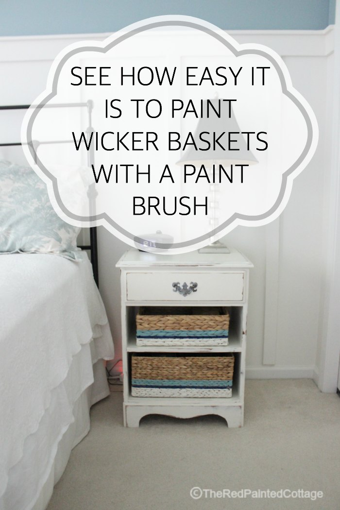 See how easy it is to paint wicker baskets with a paint brush