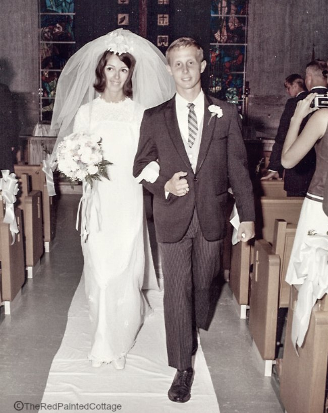 Our wedding 48 years ago!