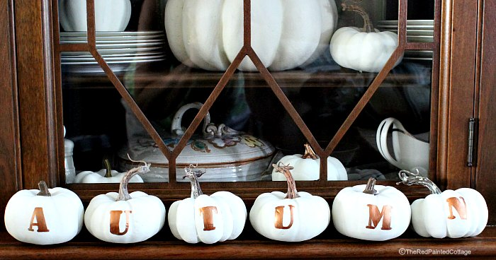 How To Make Pumpkins With Letters For AUTUMN, The Red Painted Cottage