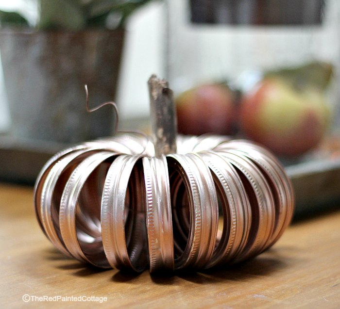 DIY Rose Gold Pumpkin, The Red Painted Cottage