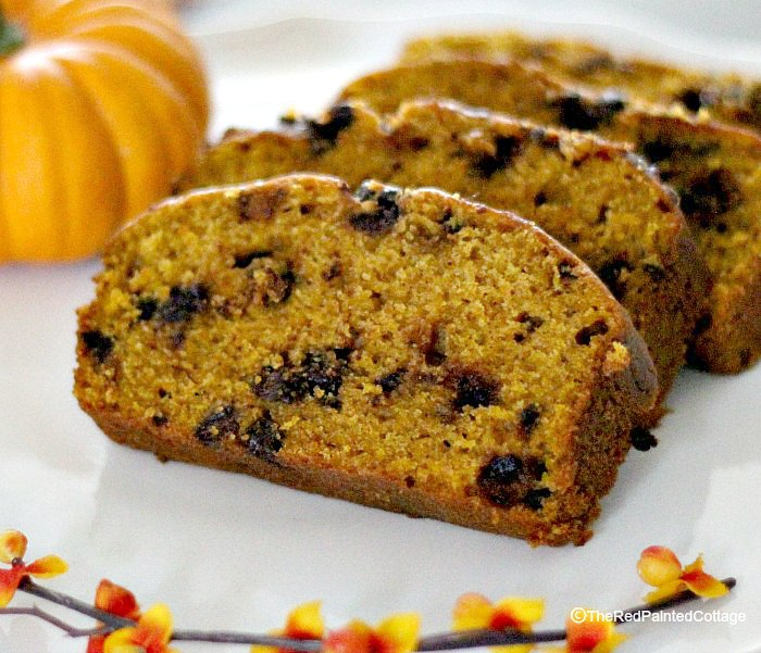 Lori's Famous Pumpkin Chocolate Chip Bread Recipe, The Red Painted Cottage