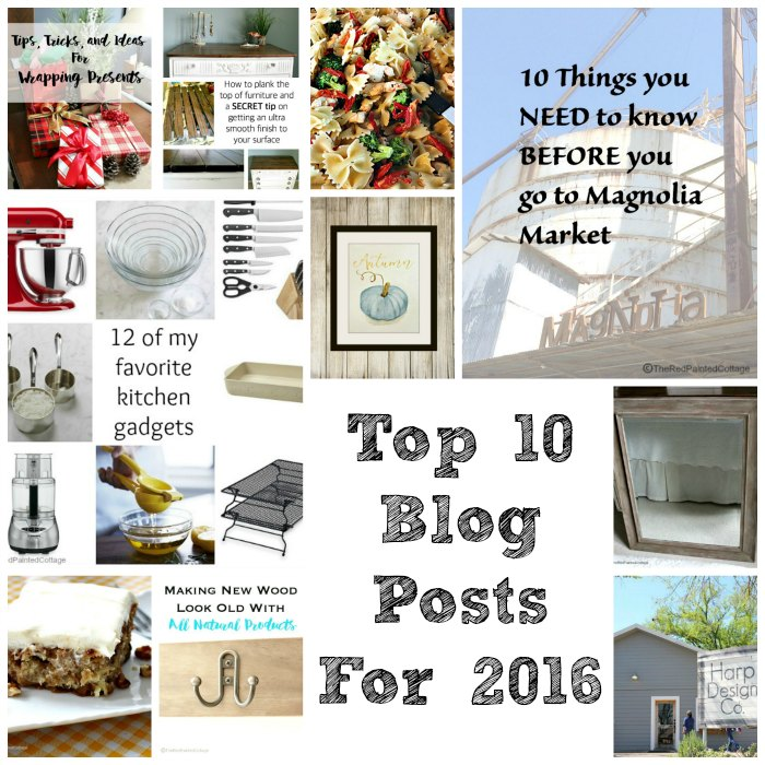 Top 10 Blog Posts For 2016 - The Red Painted Cottage