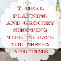 7 Meal Planning and Grocery Shopping Tips