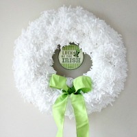 A Versatile Wreath For St. Patrick's Day and An Announcement