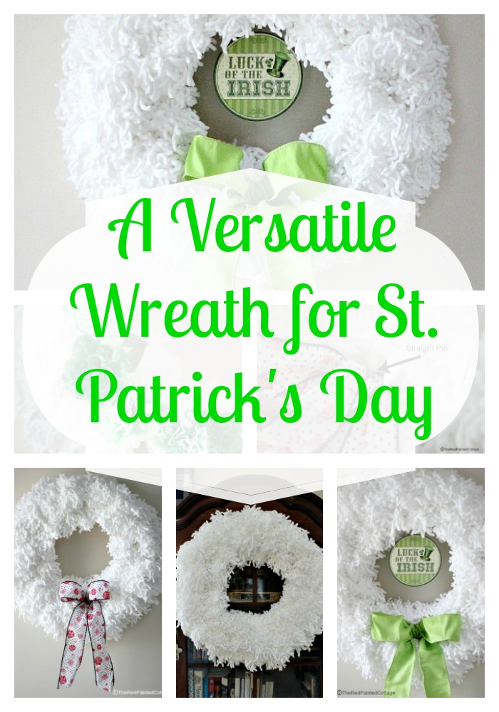 A Versatile Wreath For St. Patrick's Day and A Big Announcement