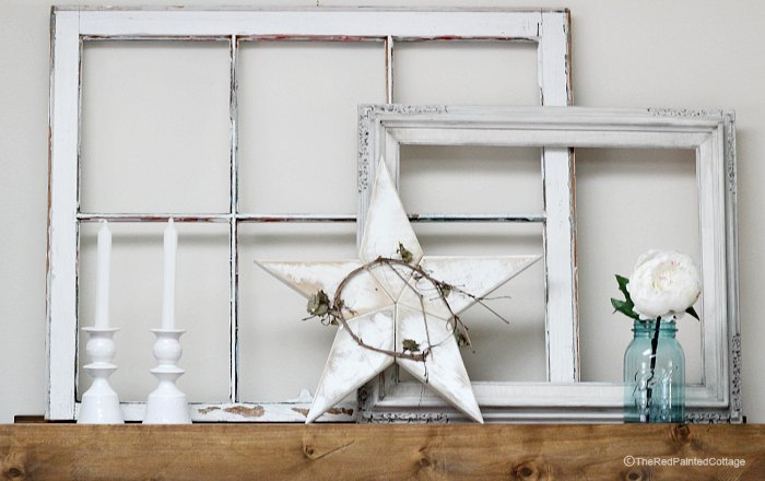 Our Summer Mantel, Simple and Easy