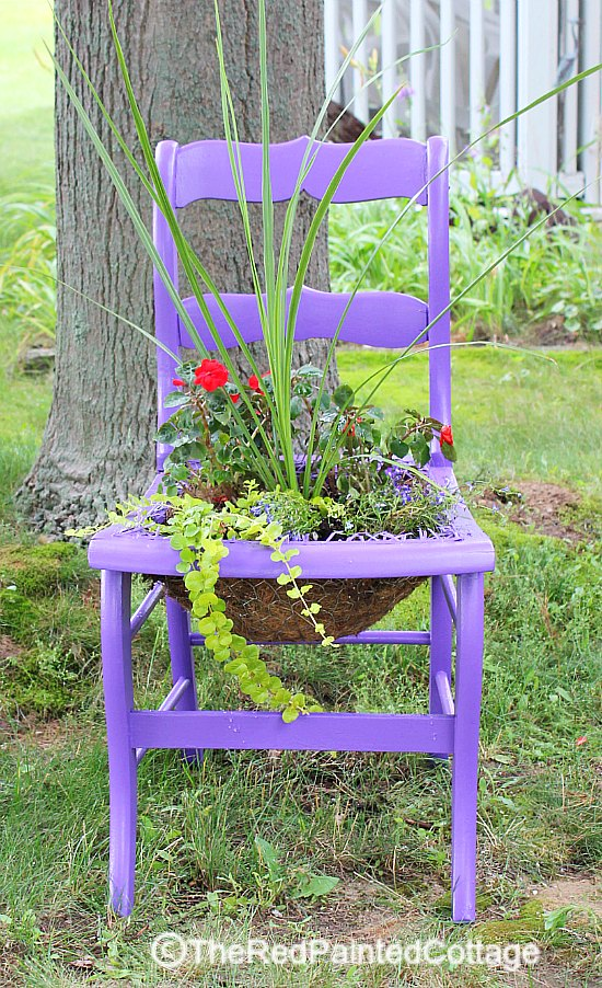 OOPS...An Unexpected Twist chair turned planter