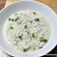 Authentic Italian Risotto with Chicken and Green Pepper