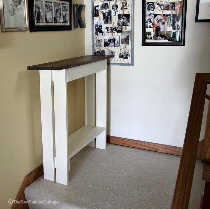 Diy Entry Console Table The Red Painted Cottage
