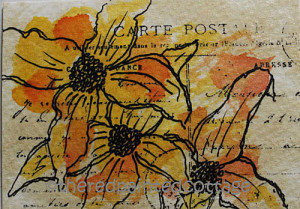 May Flower Challenge – Day 16, ATC cards and studio