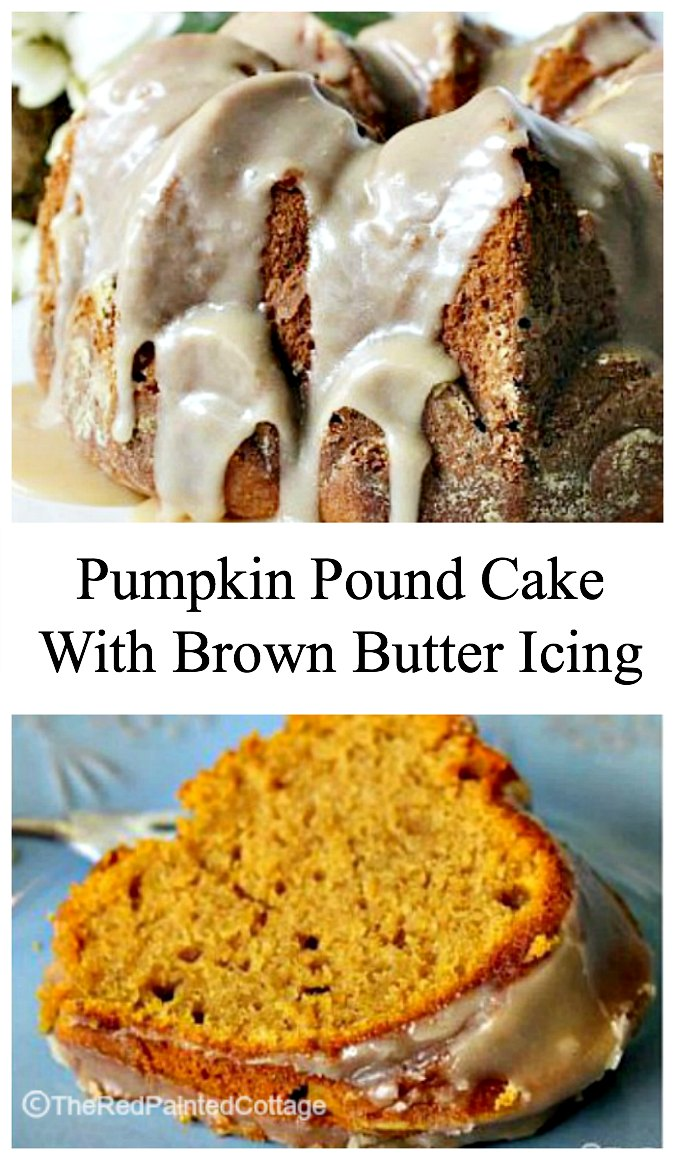 Pumpkin Pound Cake with Brown Butter Icing