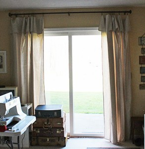 No-Sew Drop Cloth Drapes With A Faux Valance