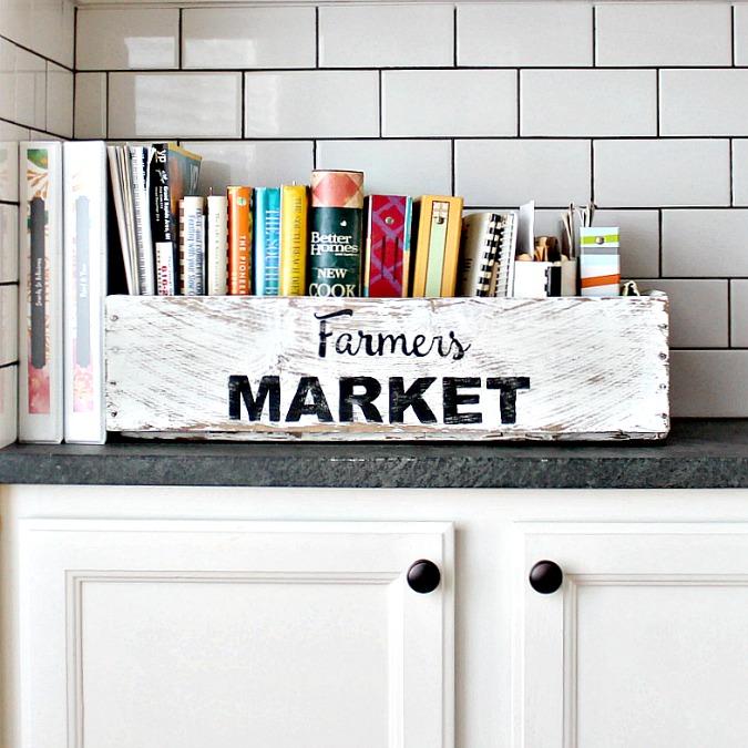 farmers market box for cookbooks