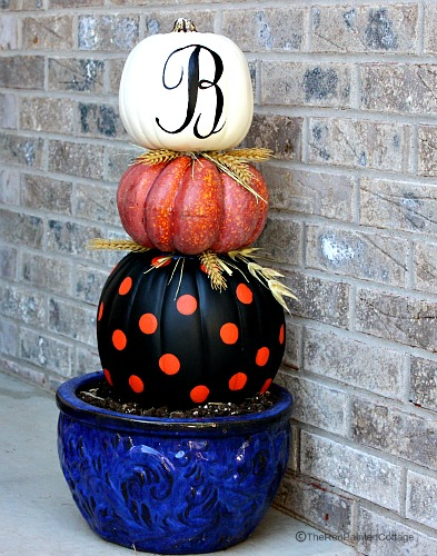 Great tutorial on making stacked pumpkins