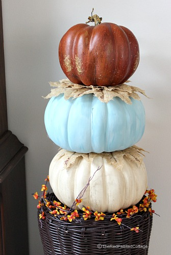 Great tutorial on how to stack pumpkins