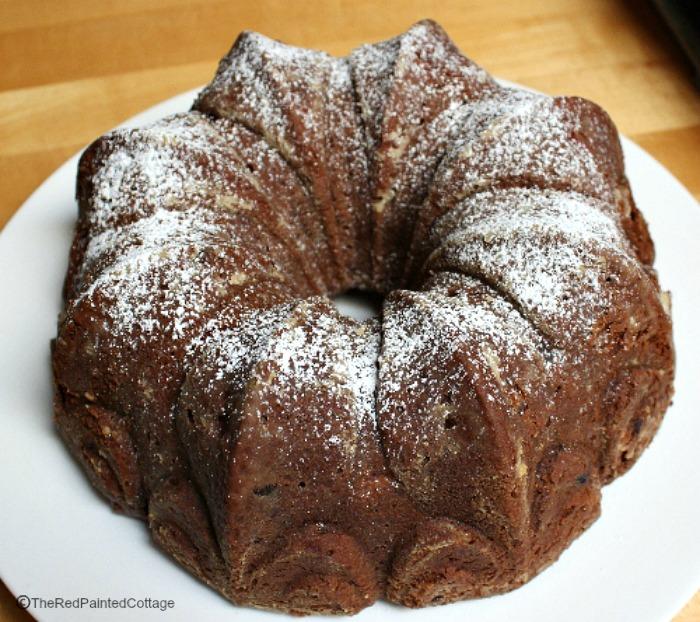 Chocolate Chip Cherry Cake For Valentines