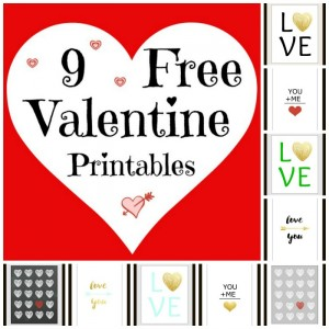 9 Free Valentine Printables
