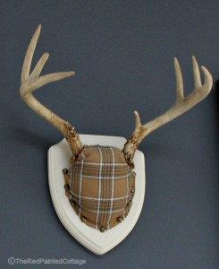 DIY Fabric Covered Antler