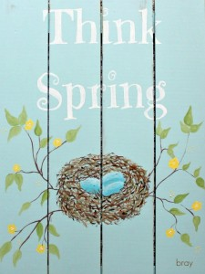 """Think Spring"" Printable"