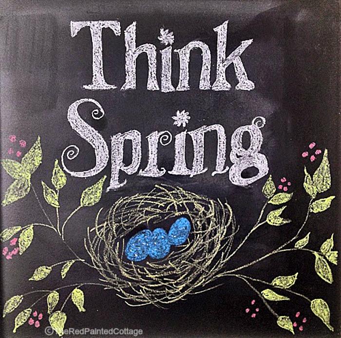 think spring chalkboard