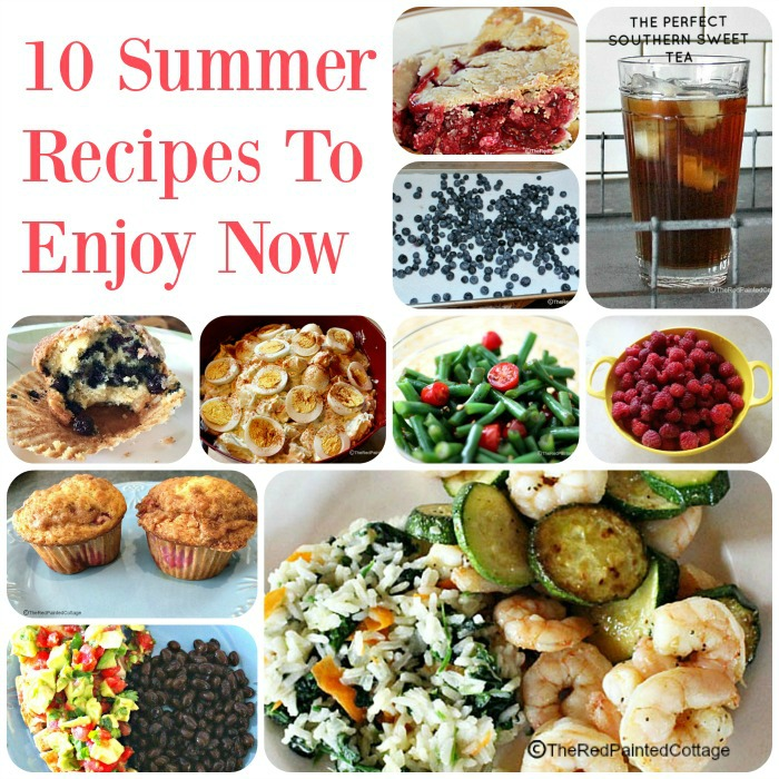 Summer recipe collage