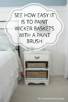 Painting Wicker Baskets With A Paintbrush