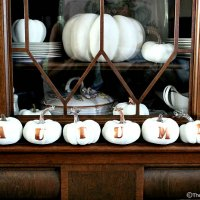 How To Make Pumpkins With Letters For AUTUMN