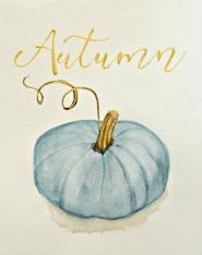 Blue Pumpkin Printable For Autumn