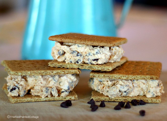 Pumpkin and Chocolate Chip Fake Ice Cream Sandwiches by The Red Painted Cottage