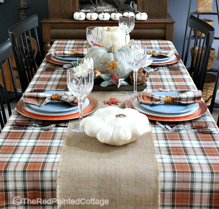 Rustic Thanksgiving Tablescape No Place Like Home The Red - Thanksgiving-table-cloth