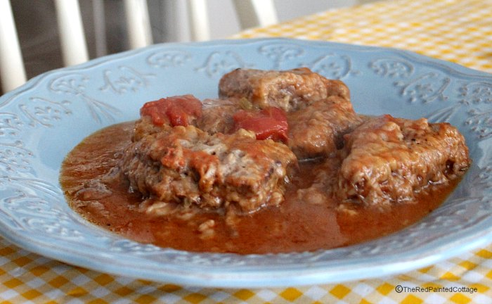 Behance comfort food easy swiss steak recipe the red painted cottage forumfinder Choice Image