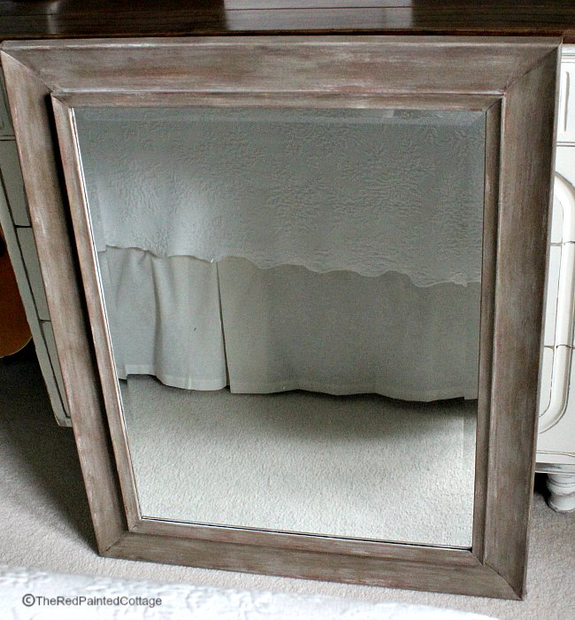 One Room Challenge, Week 5 - Master Bedroom and Transforming a mirror frame to look like wood...The Red PaintedCottage