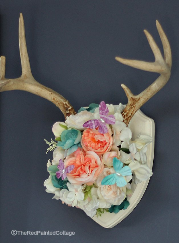 Decorating An Antler For Spring With Tutorial