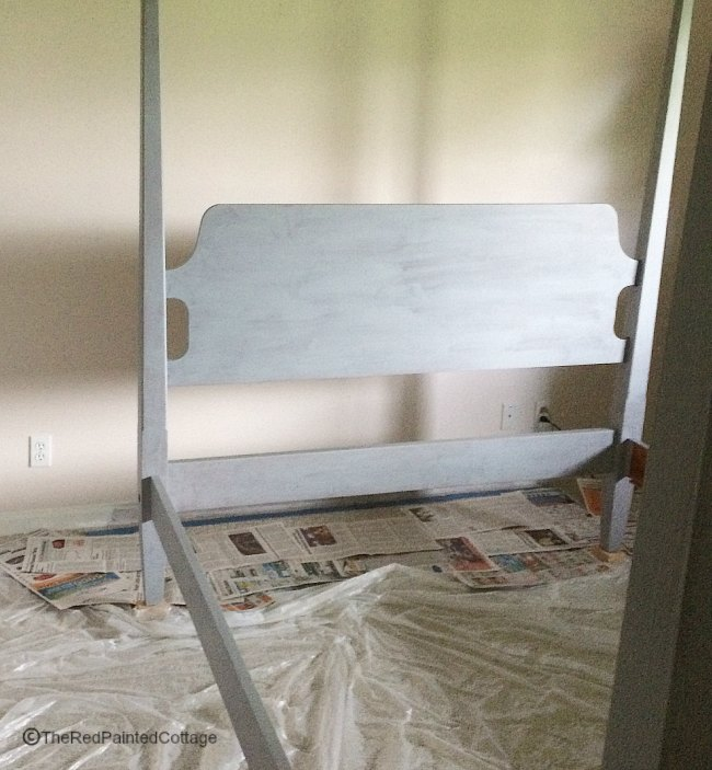 How I Painted Our Ethan Allen Bed