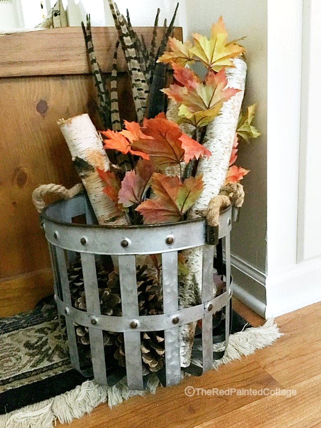 A Simple Fall Decor In Less Than 5 Minutes