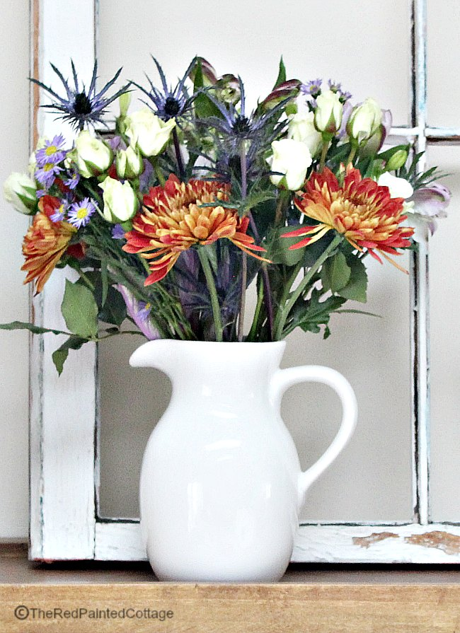 A Fall Bouquet of Flowers