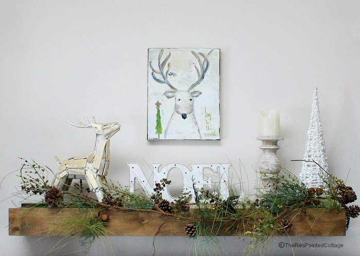 mantel with deer