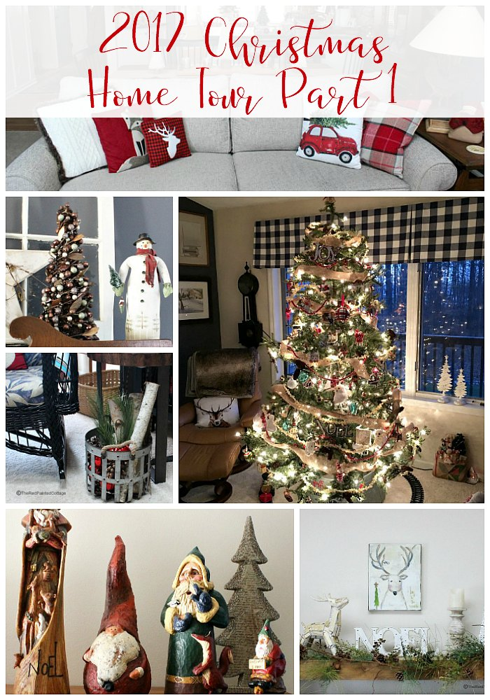 2017 Christmas Home Tour collage