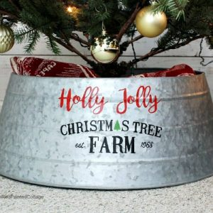 DIY Custom Painted Christmas Tree Collar