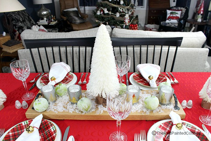 Frosted Christmas Tablescape