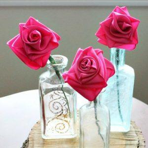 DIY Easy Ribbon Roses