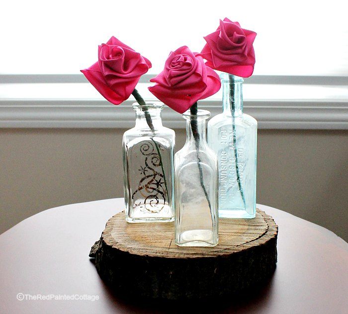 DIY Easy Ribbon Roses